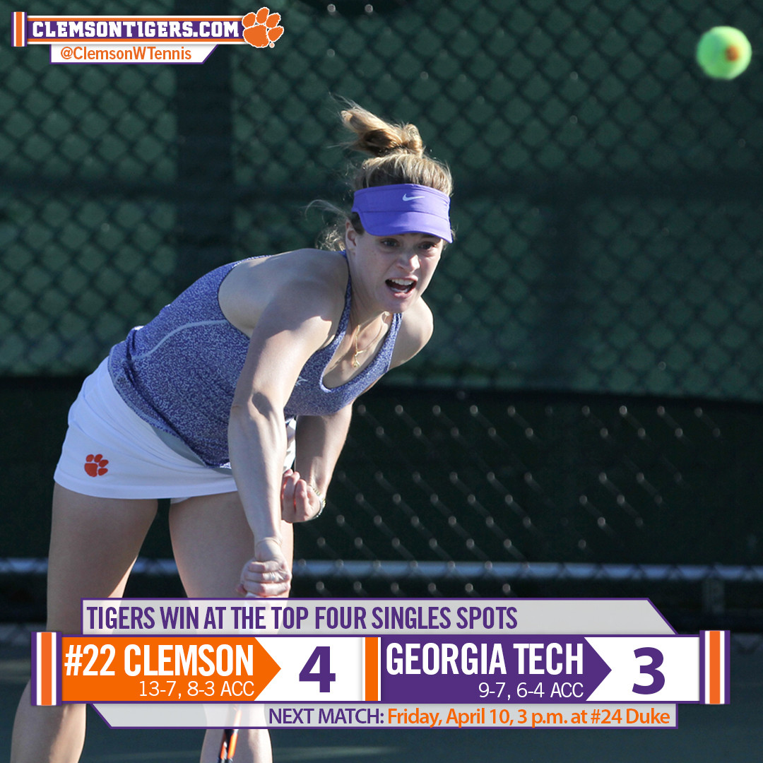 #22 Clemson Edges Yellow Jackets 4-3 Saturday Afternoon