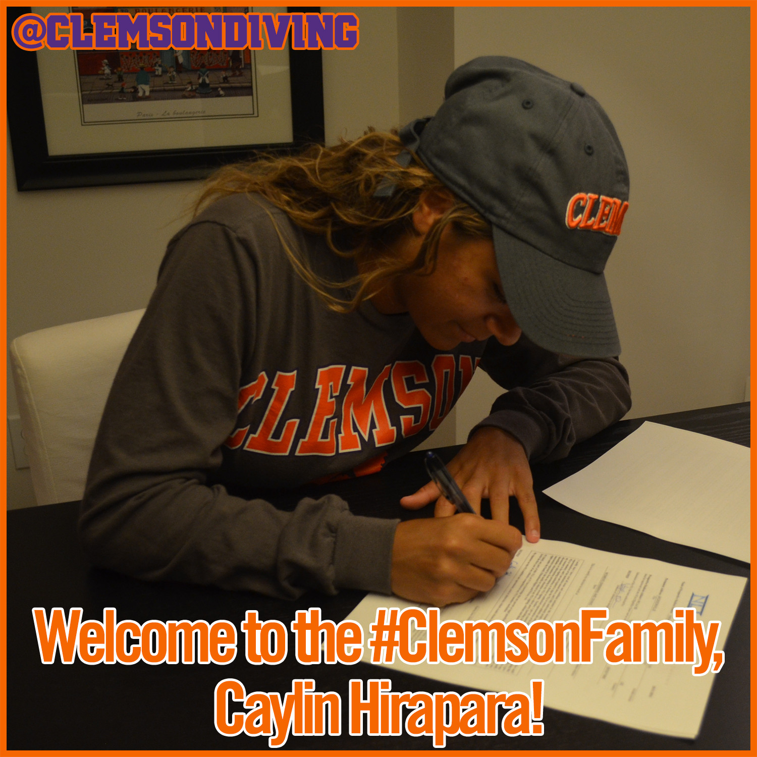 Clemson Diving Adds Hirapara to 2015-16 Class