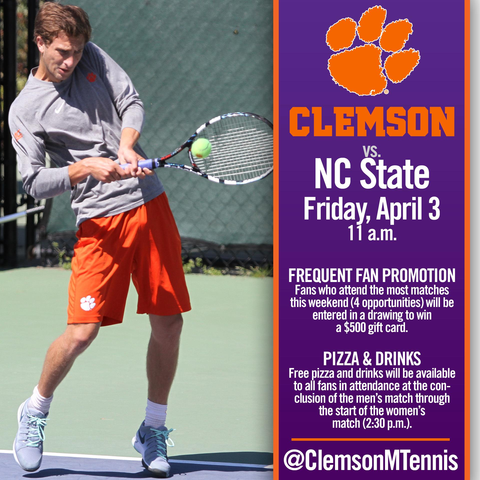 Clemson Hosts NC State Friday, #12 Wake Forest Sunday