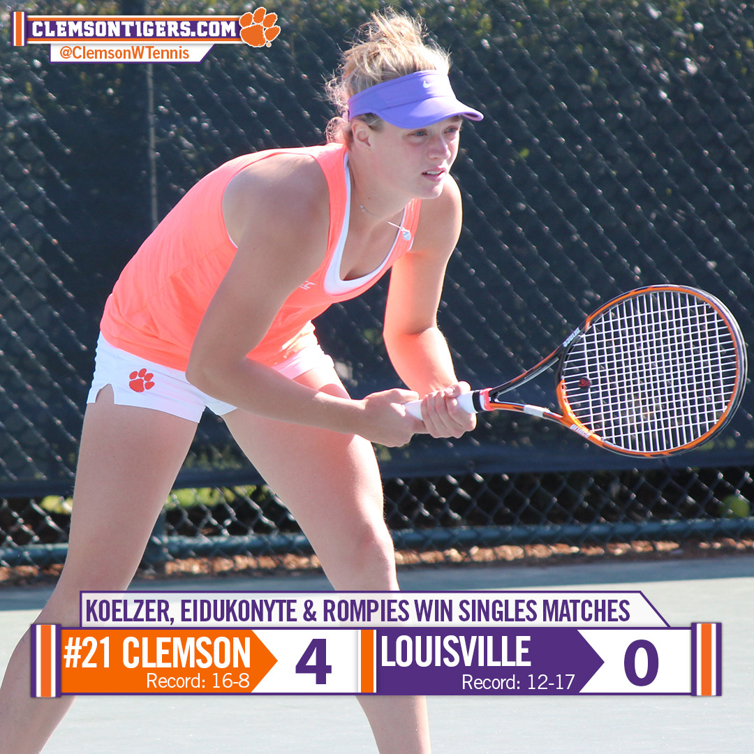 Tigers Dominate Louisville 4-0 Thursday, Advance to ACC Quarterfinals
