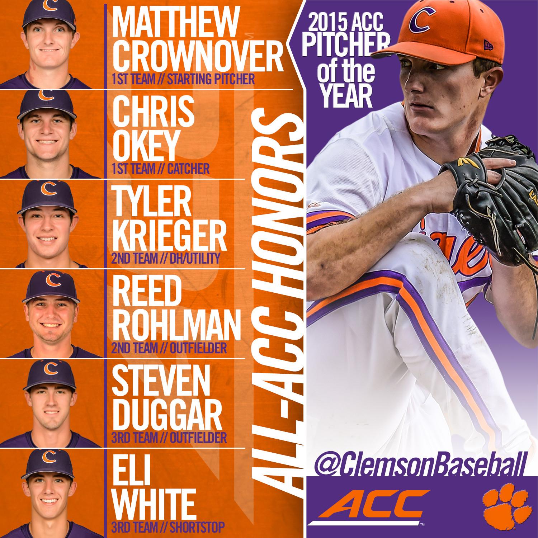 Six Tigers on All-ACC Teams