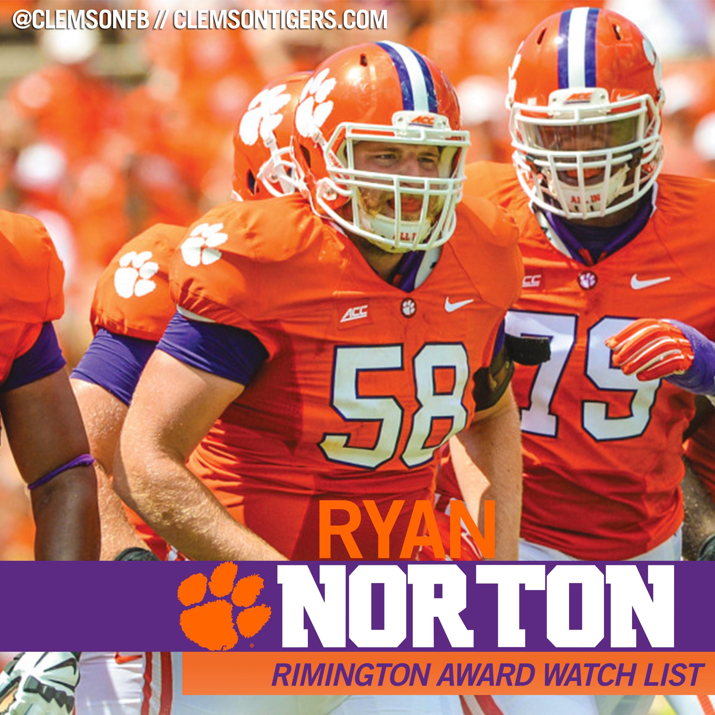 Norton Named to Rimington Watch List