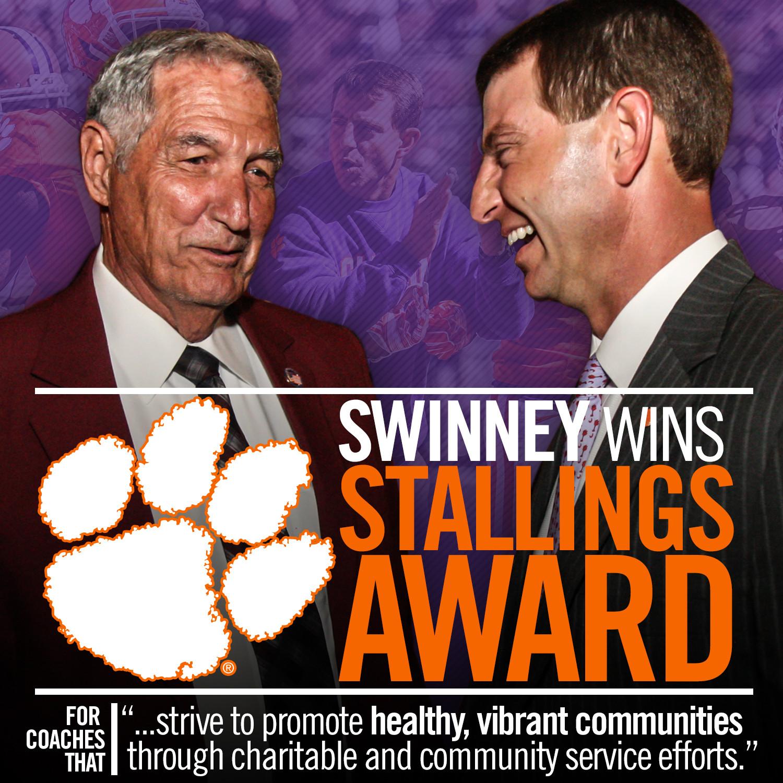 Swinney to Receive Stallings Award