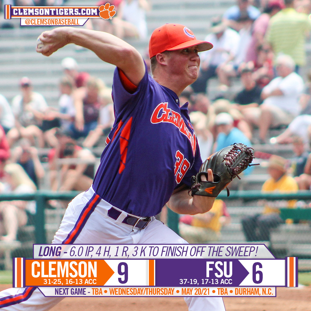 Tigers Sweep No. 8 FSU 9-6