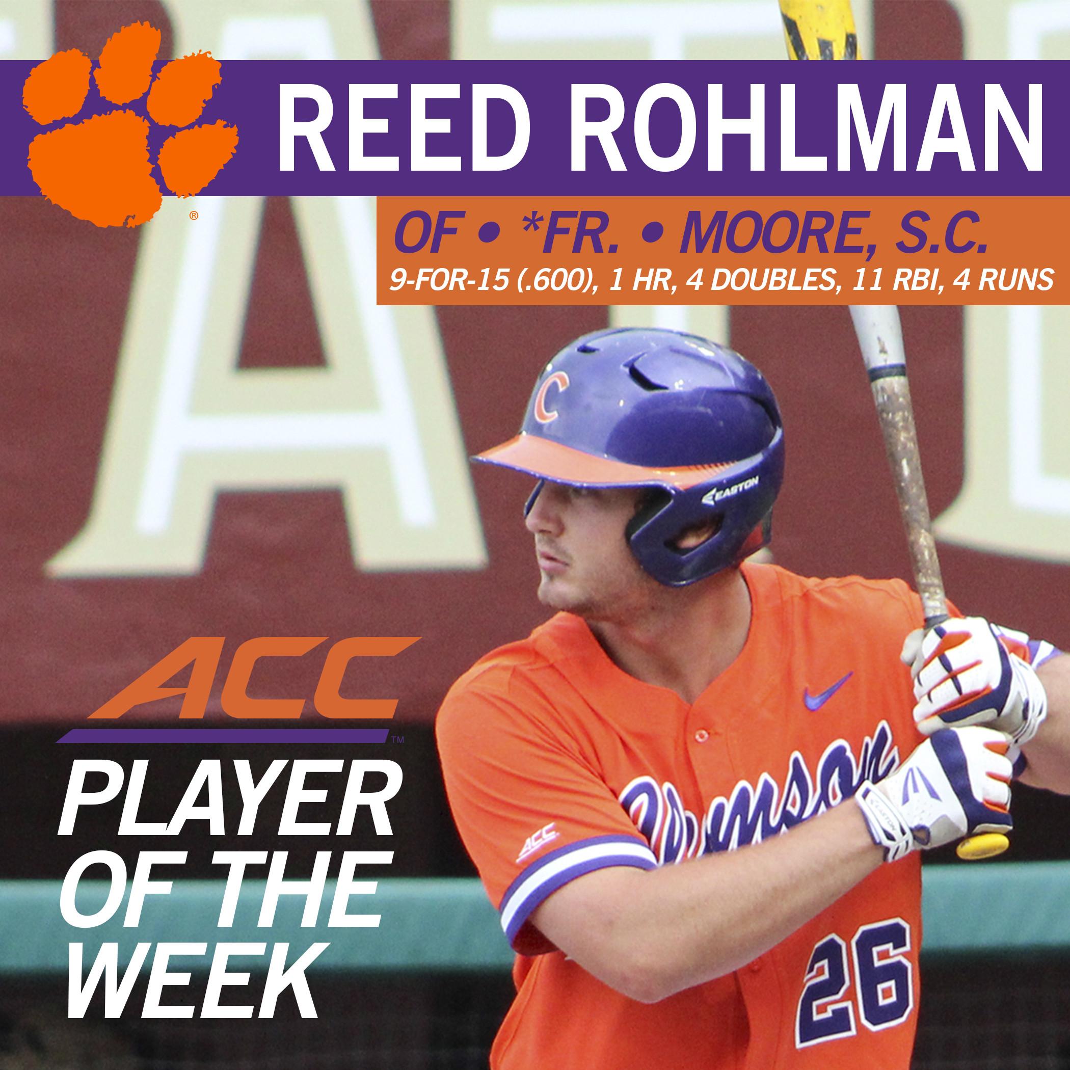 Rohlman Named ACC Co-POTW