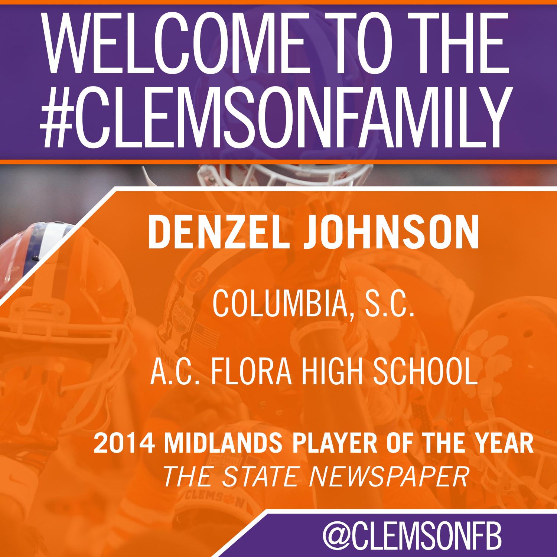 Tigers Sign Denzel Johnson