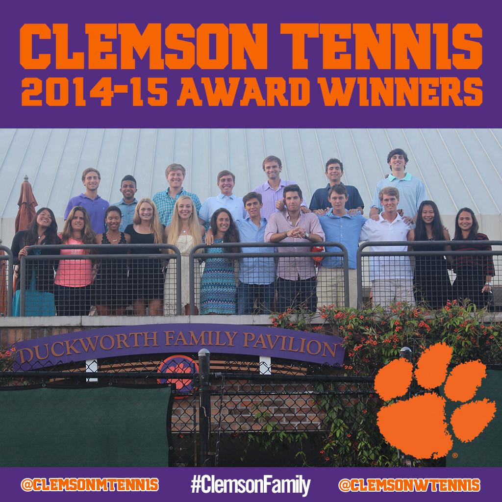 Clemson Men?s & Women?s Tennis Award Winners