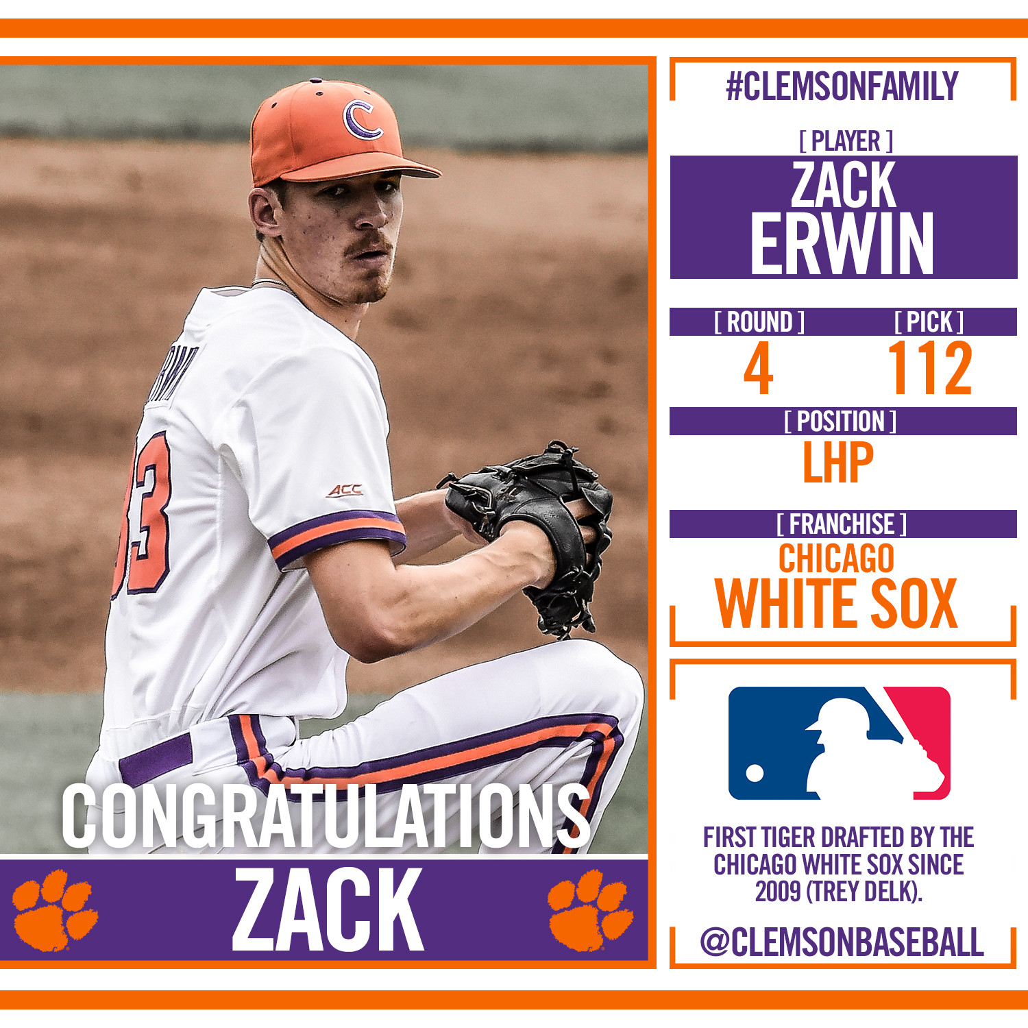 Four Tigers Drafted on Day 2