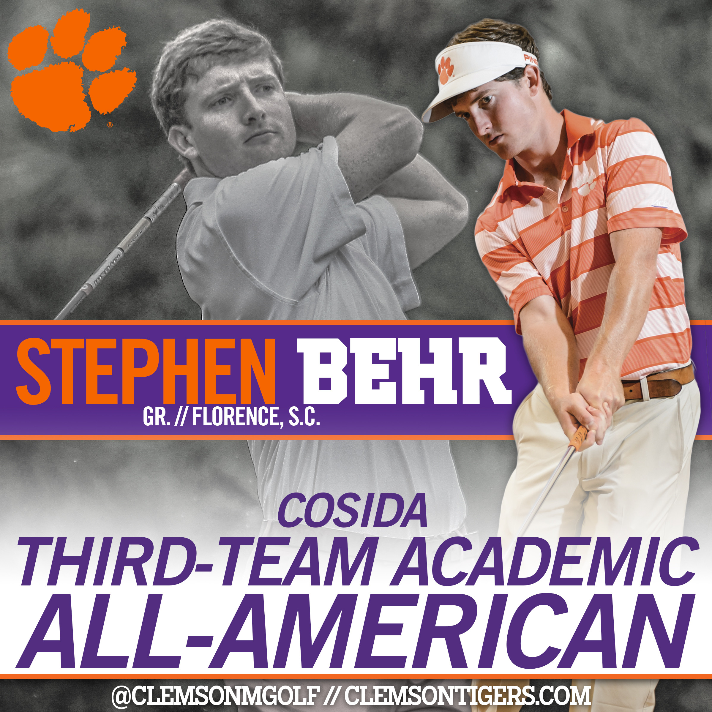 Behr Named Academic All-American
