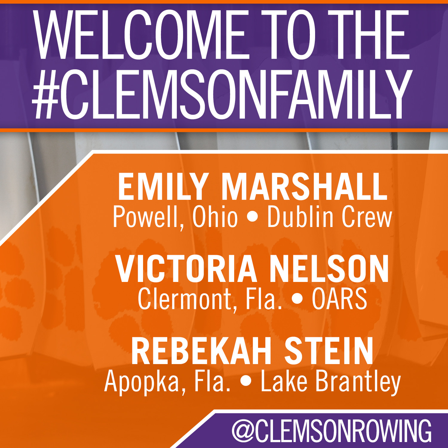 Tigers Sign Three Rowers to NLIs