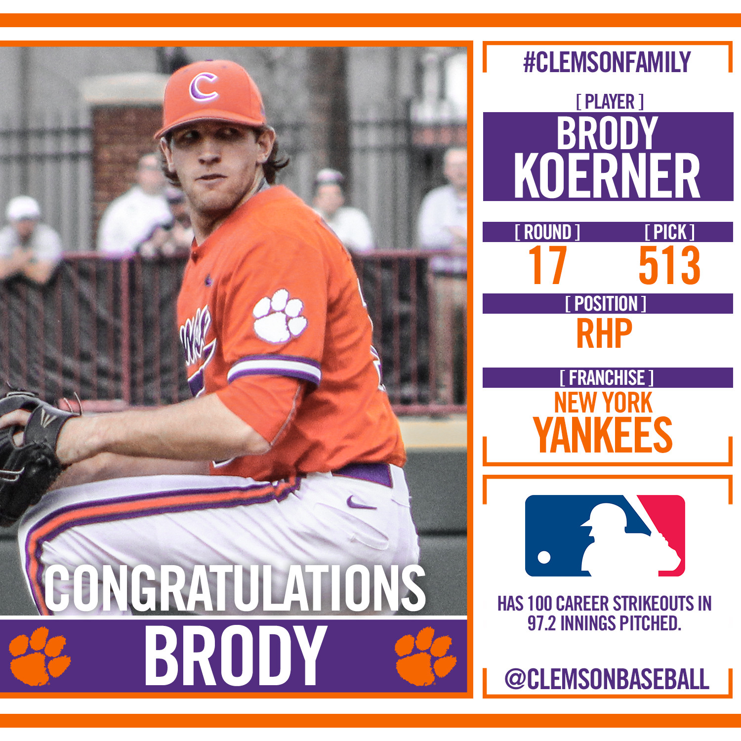 Three Tigers Drafted on Day 3