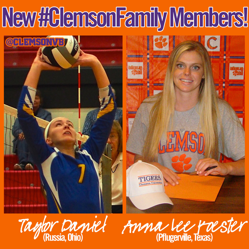Two Players Join Clemson Volleyball Class of 2015