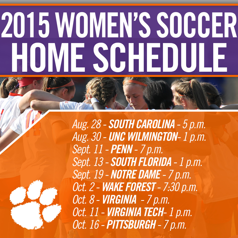Clemson Women?s Soccer Announces 2015 Schedule