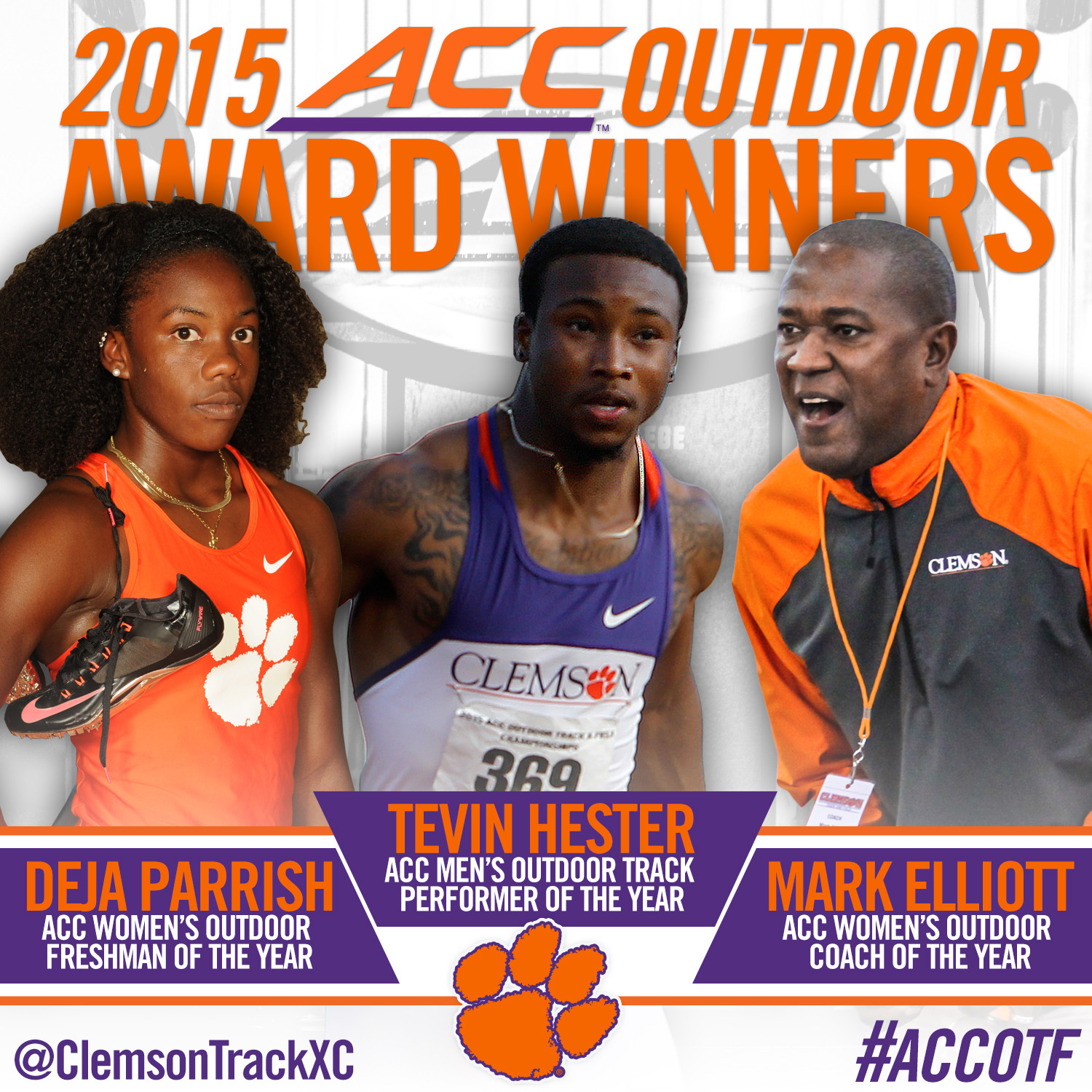 Trio of Tigers Earn ACC Honors
