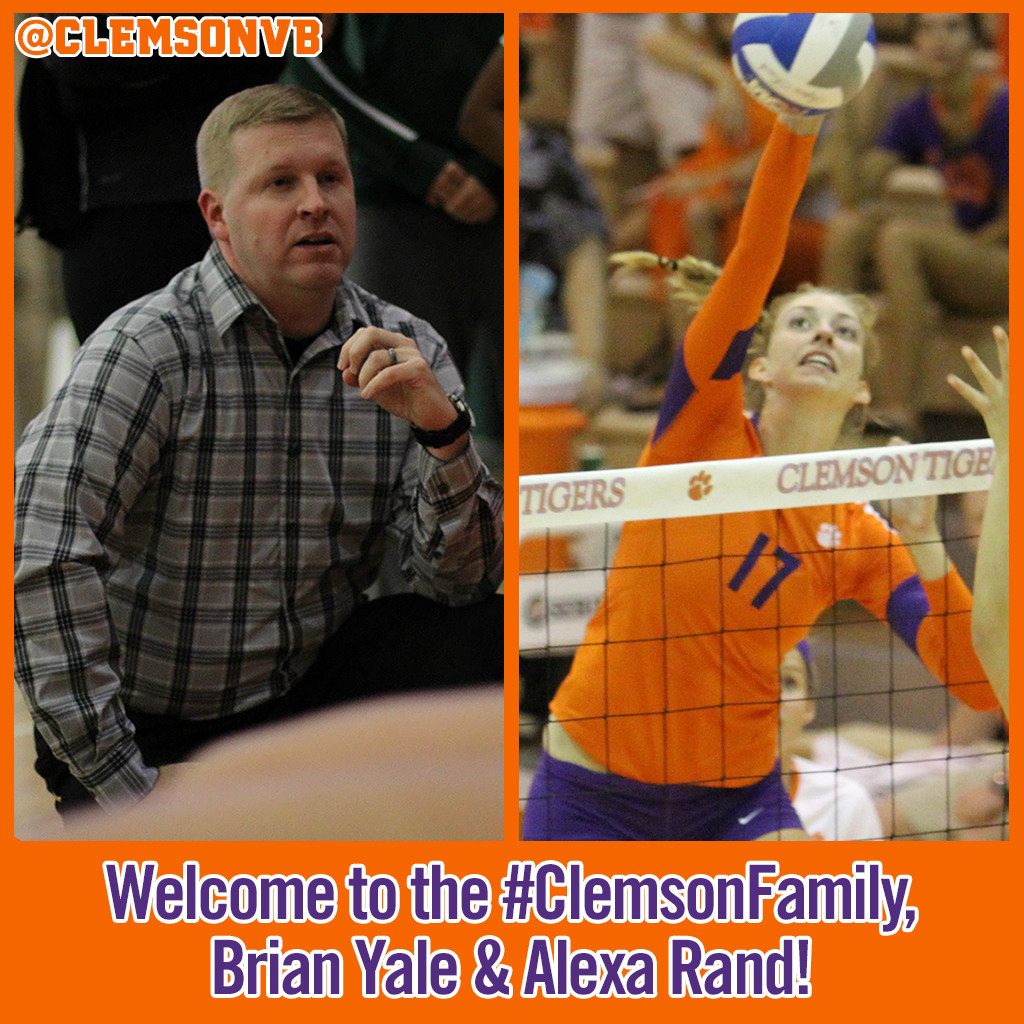 Brian Yale & Alexa Rand Join Clemson Volleyball Staff