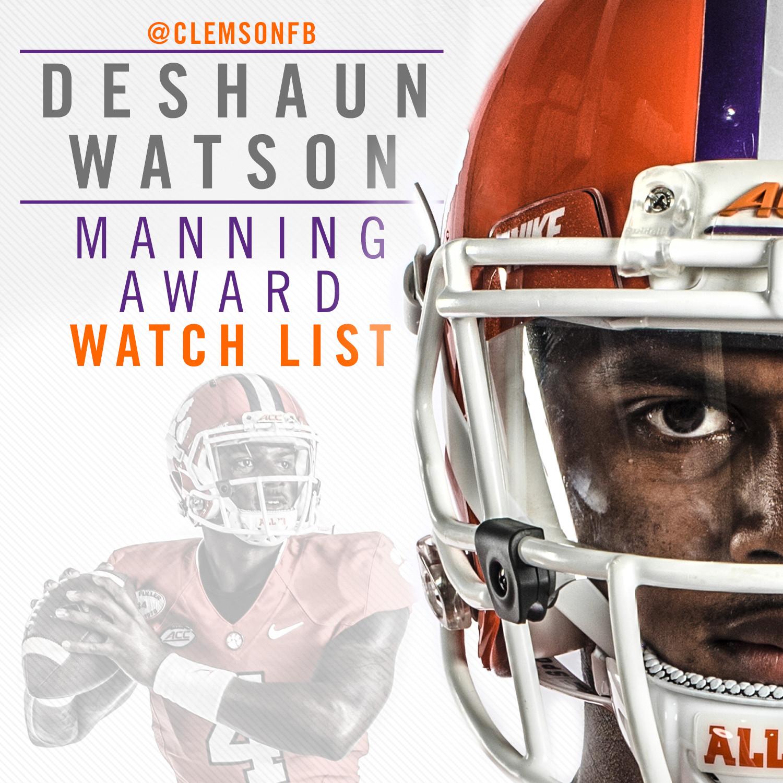Watson Named to Manning Award Watch List