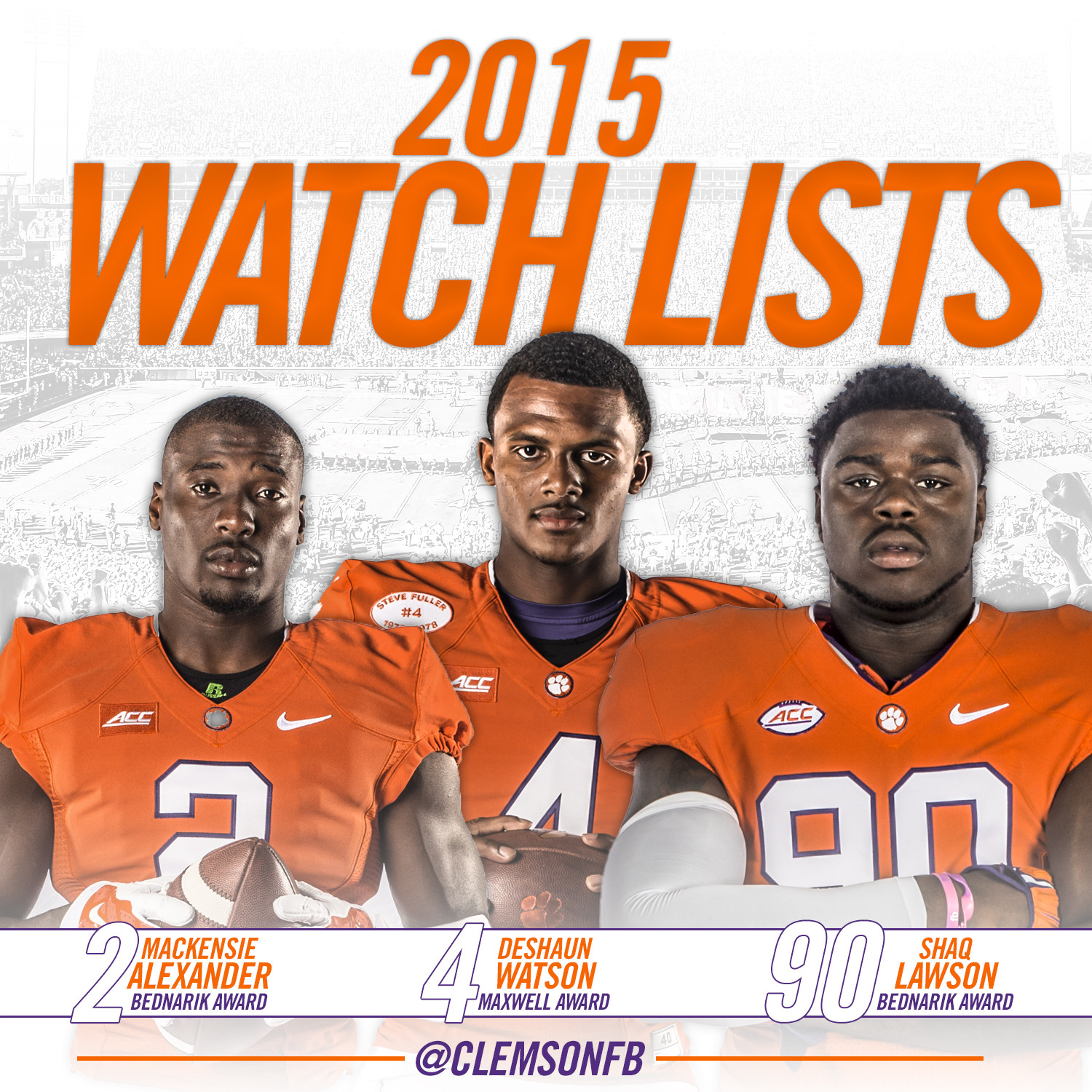 Watson, Lawson, Alexander Named to Watch Lists