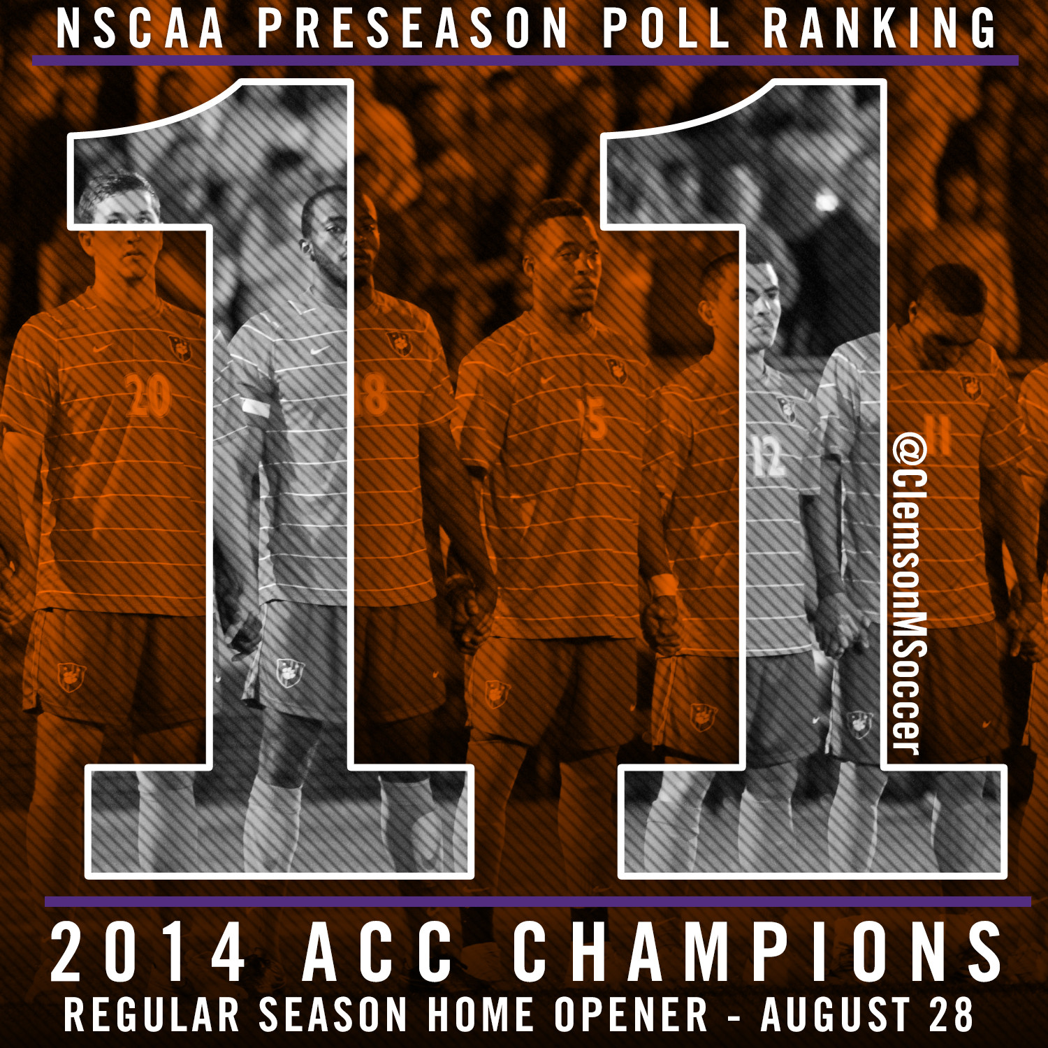 Clemson Ranked 11th in NSCAA Preseason Poll
