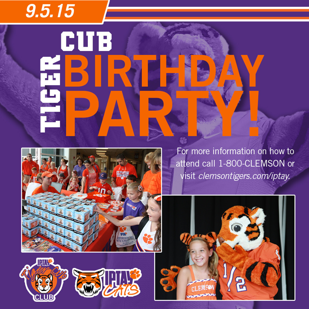 It's Time To Party! The Tiger Cub's Birthday Party Is Set For Saturday, September 5