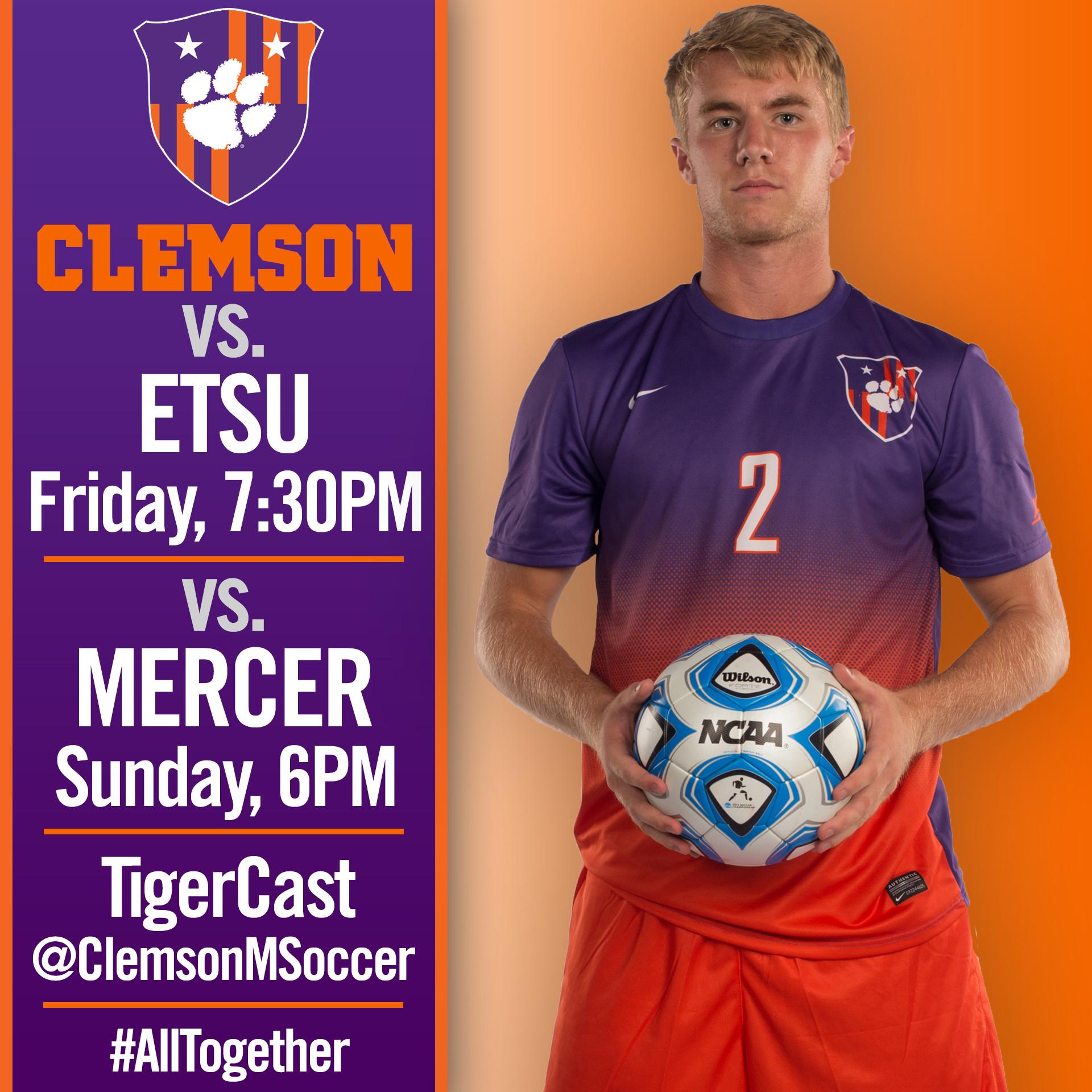 Men?s Soccer Hosts ETSU Friday, Mercer on Sunday
