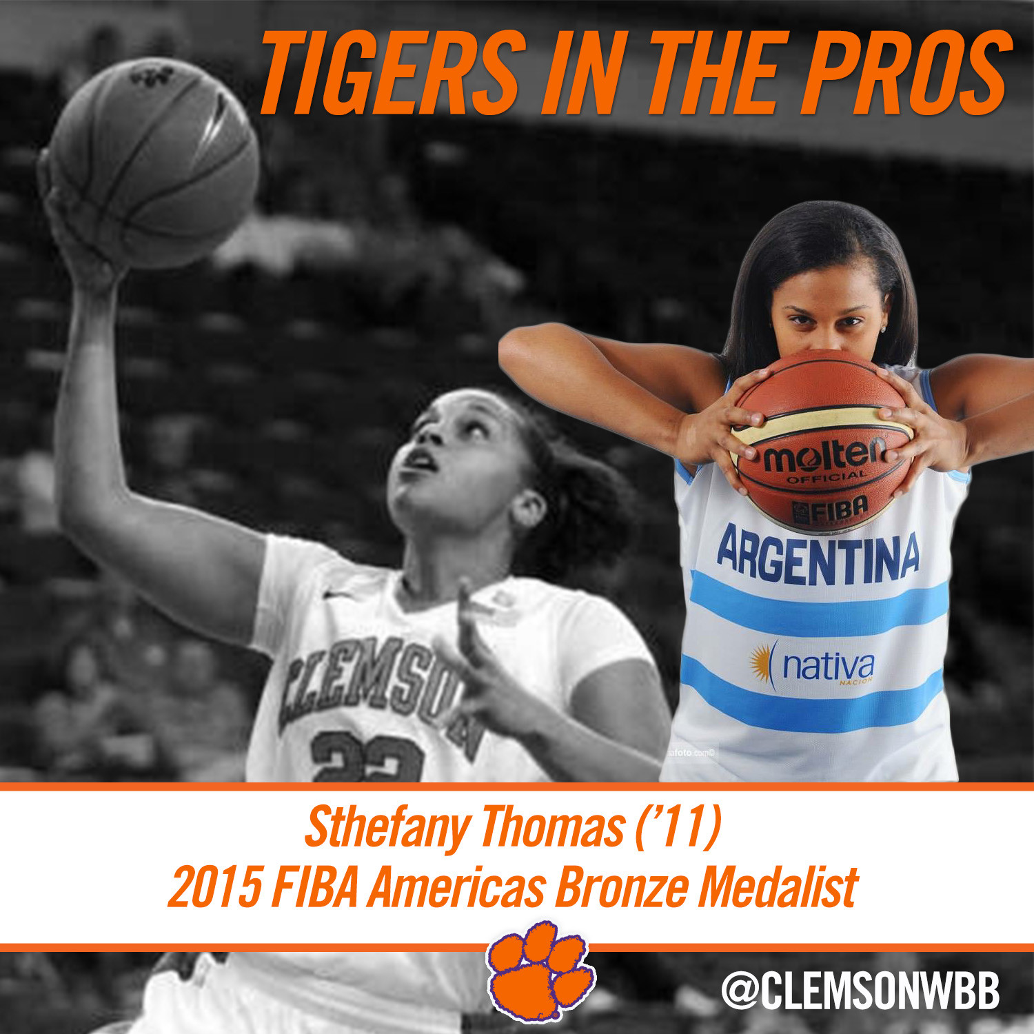 Tigers in the Pros: Sthefany Thomas