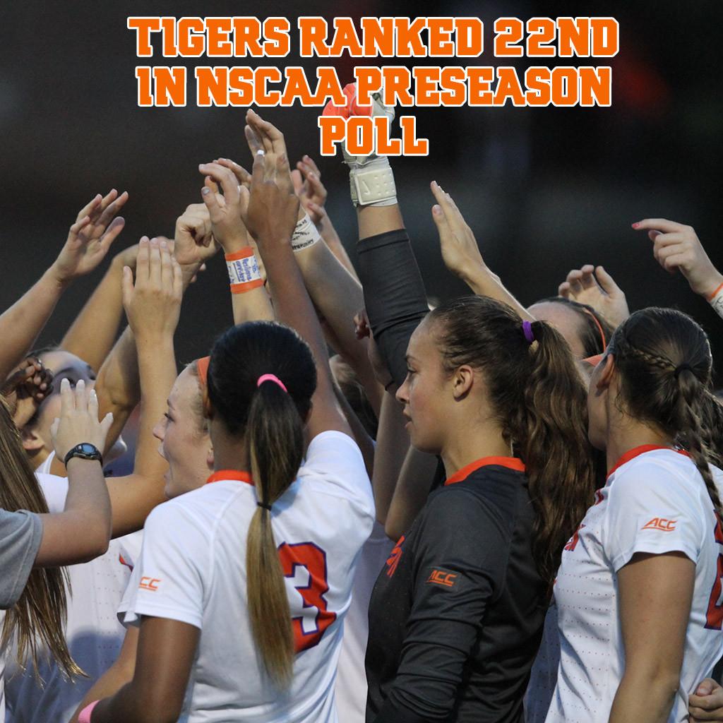 Tigers Ranked 22nd in NSCAA Preseason Poll