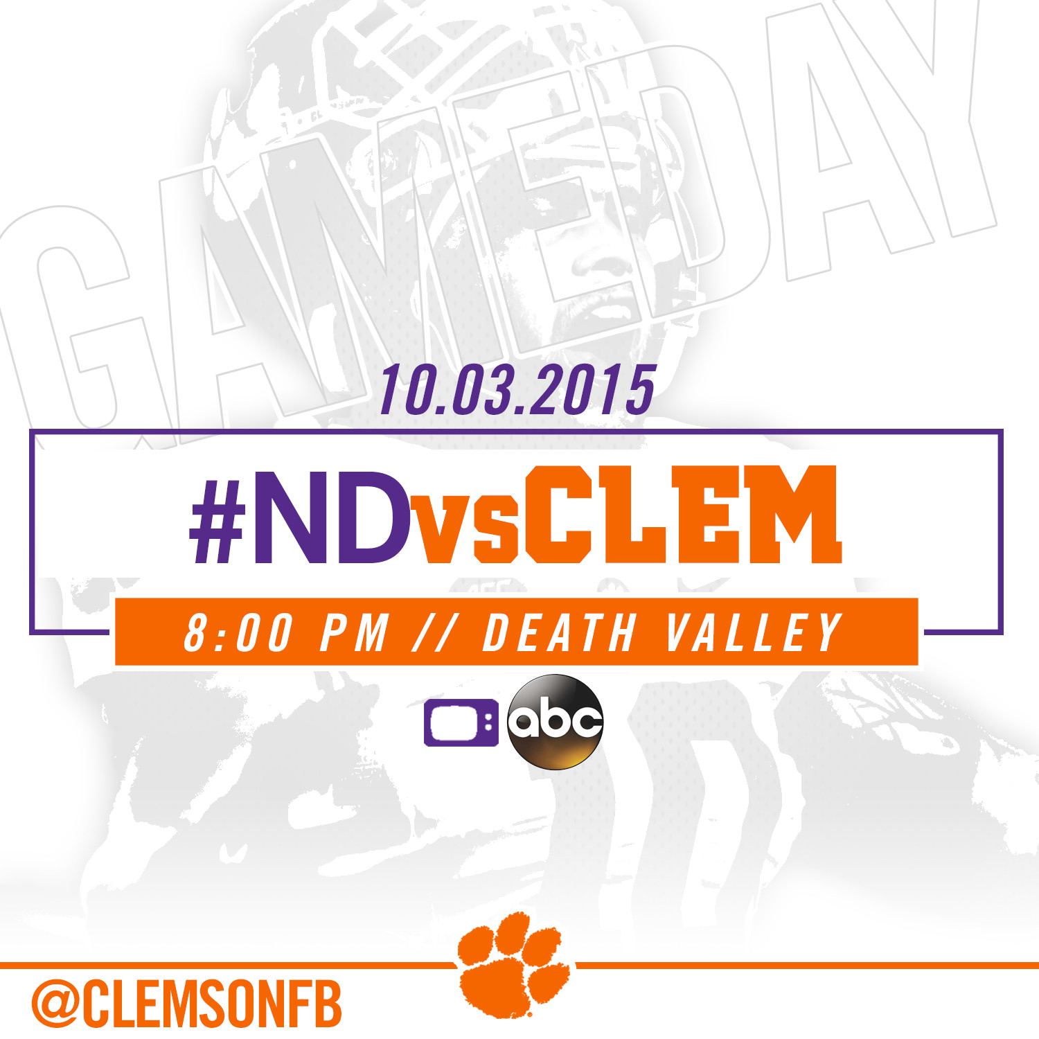 Notre Game Game Set for 8pm on ABC