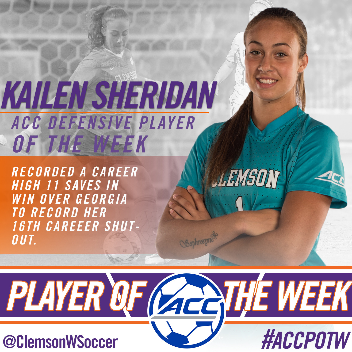 Sheridan Named ACC Player of the Week