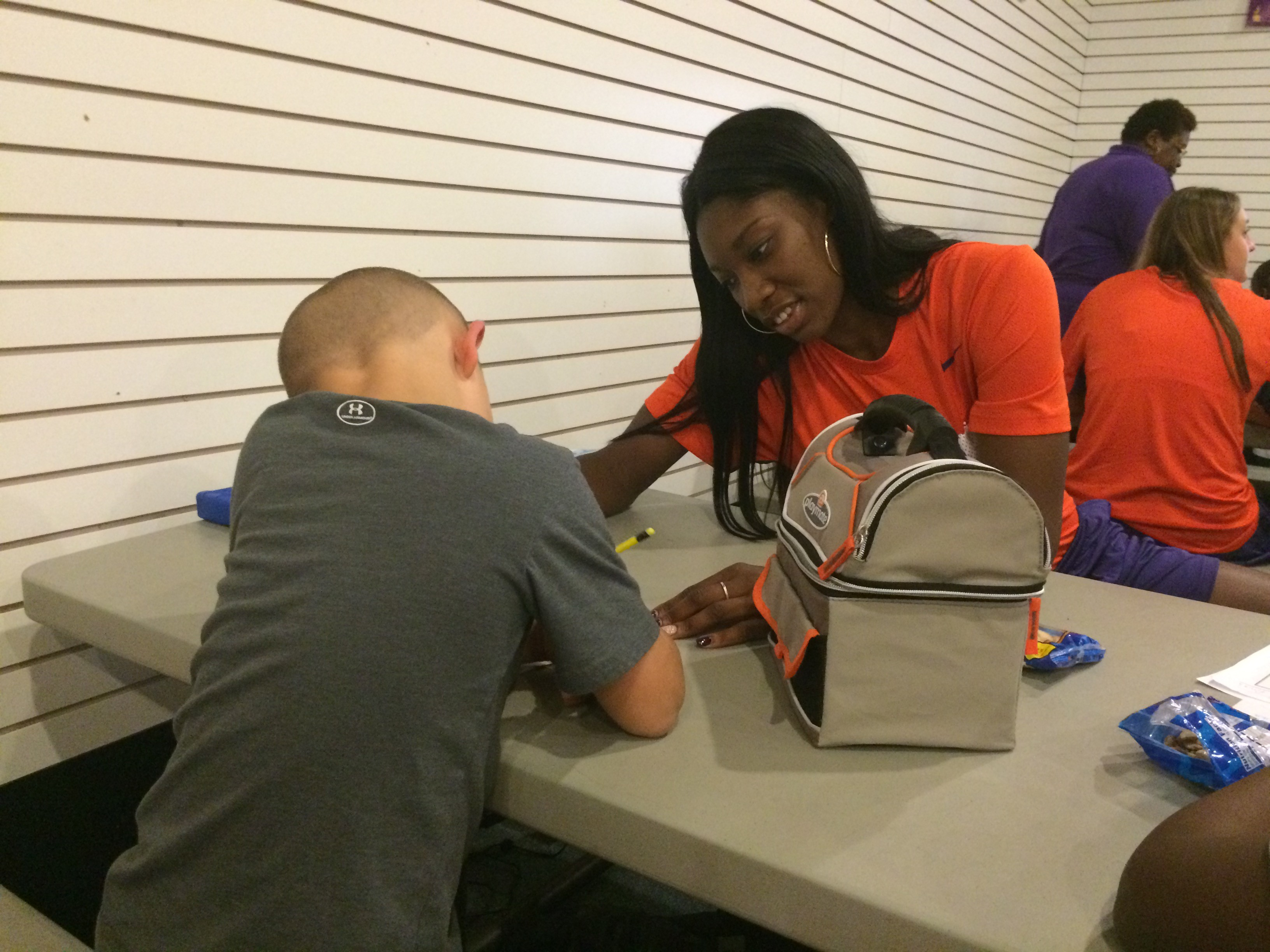Tigers Volunteer at Boys and Girls Club