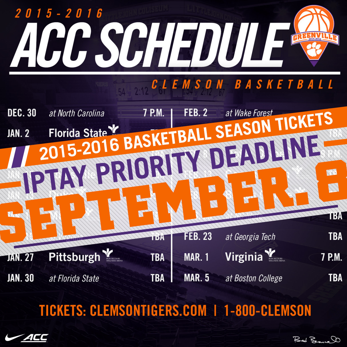 Men's Basketball Season Ticket Application Due Tomorrow, September 8