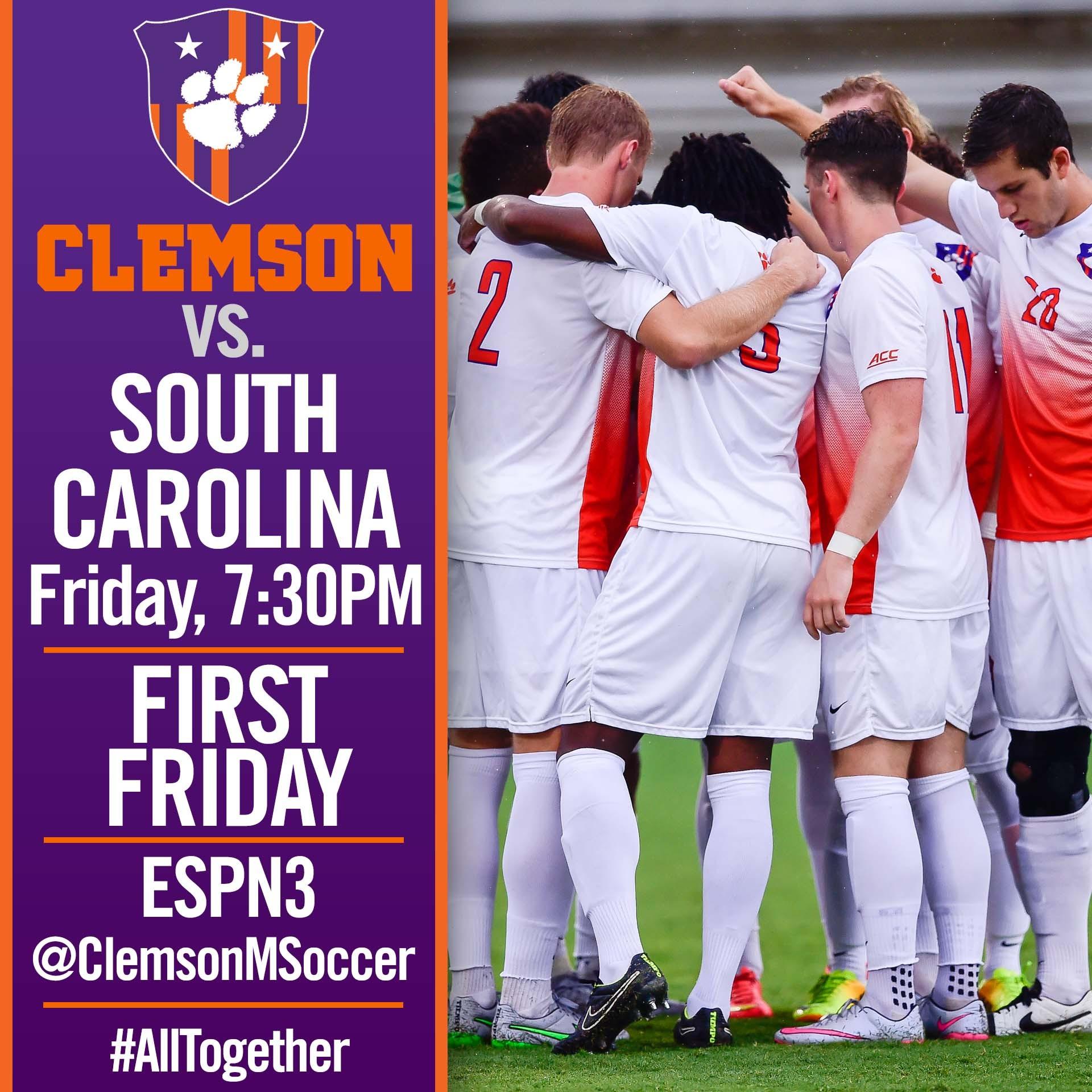 No. 6 Clemson Hosts South Carolina Friday