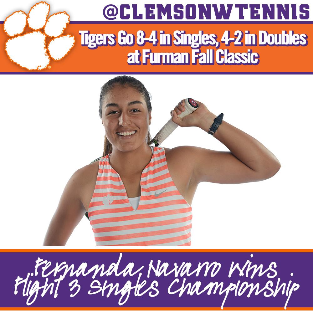 Navarro Wins Flight 3 Singles Title at Furman Fall Classic