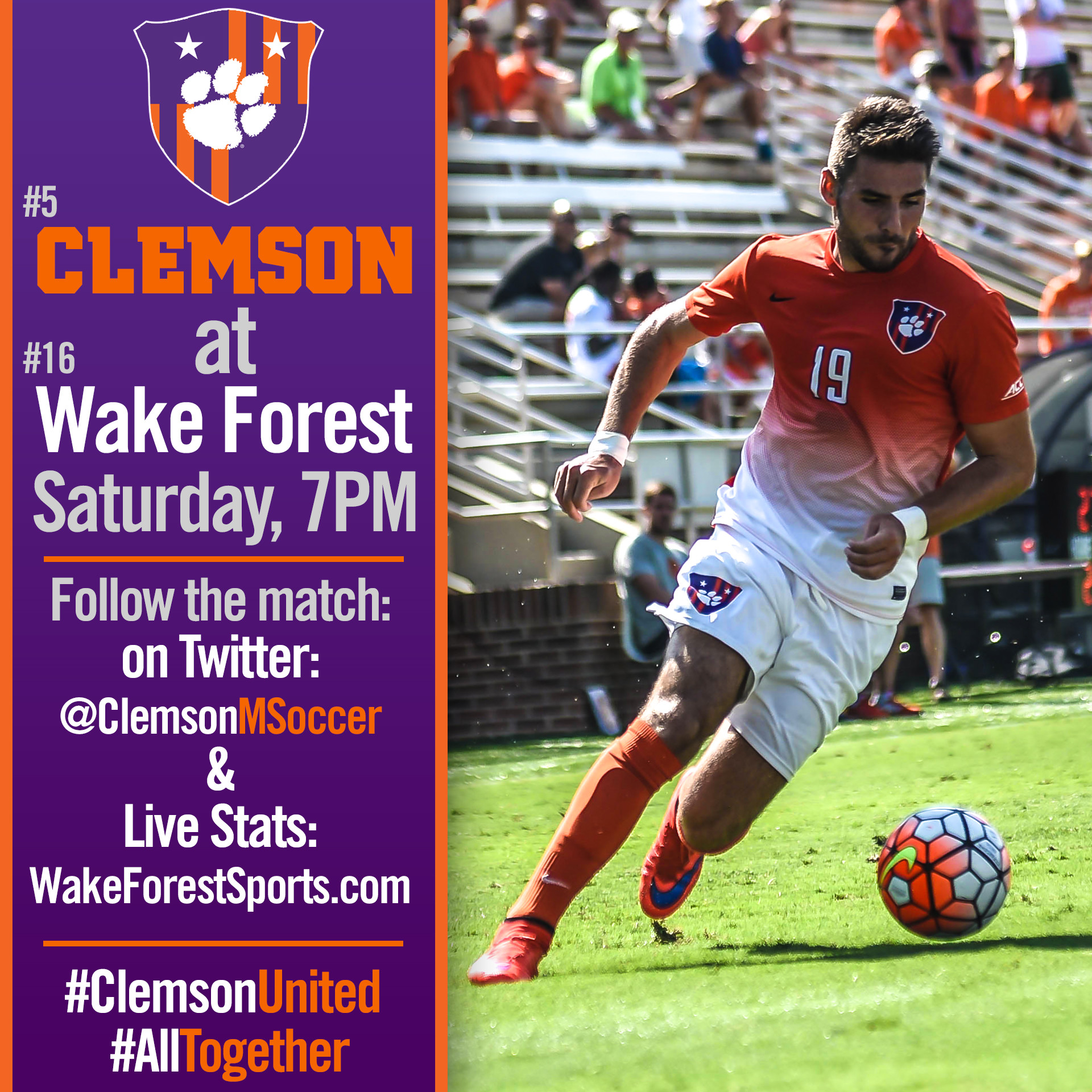 No. 5 Tigers Travel to Winston-Salem Saturday for Top-25 ACC Action