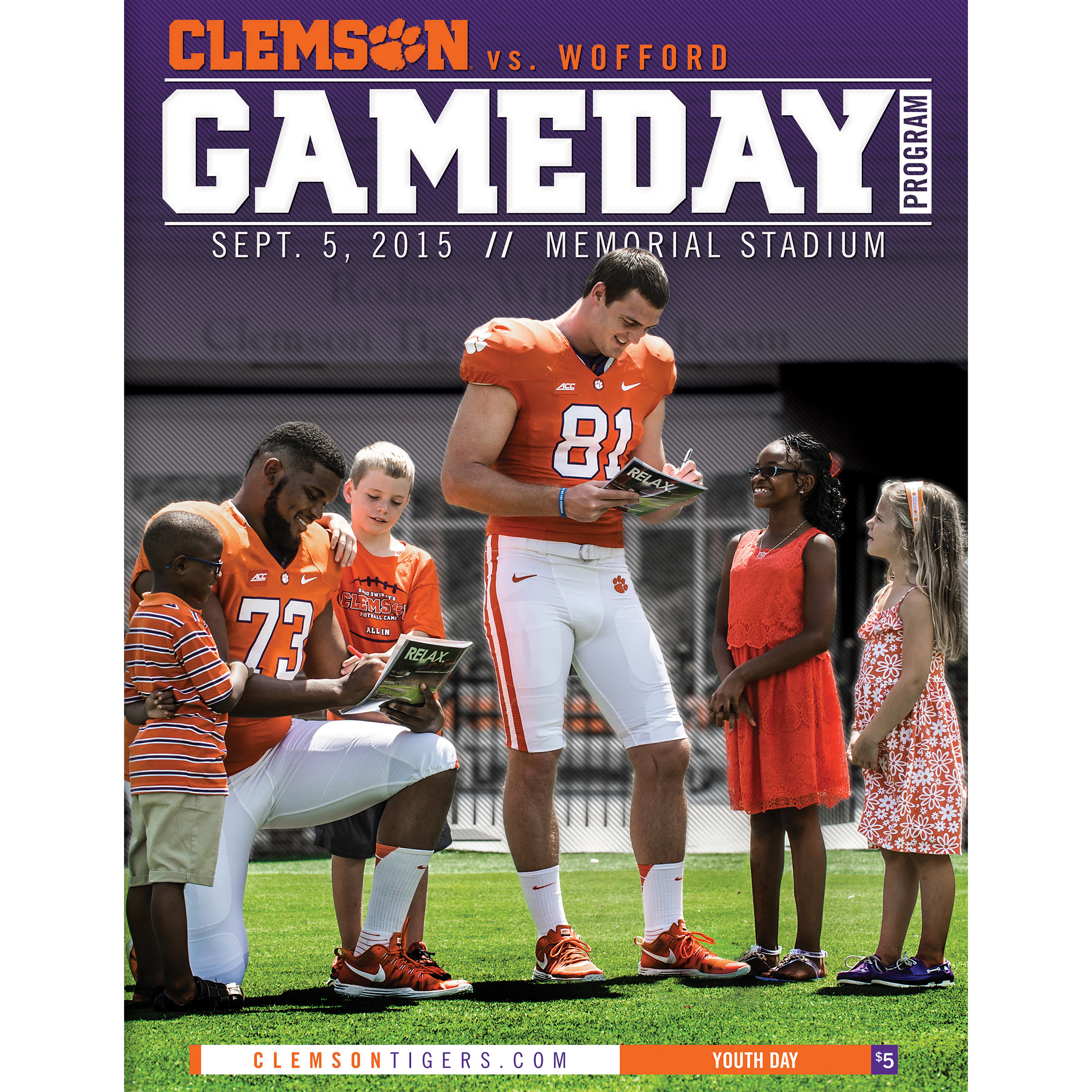 Wofford Program Available Clemson Tigers Official