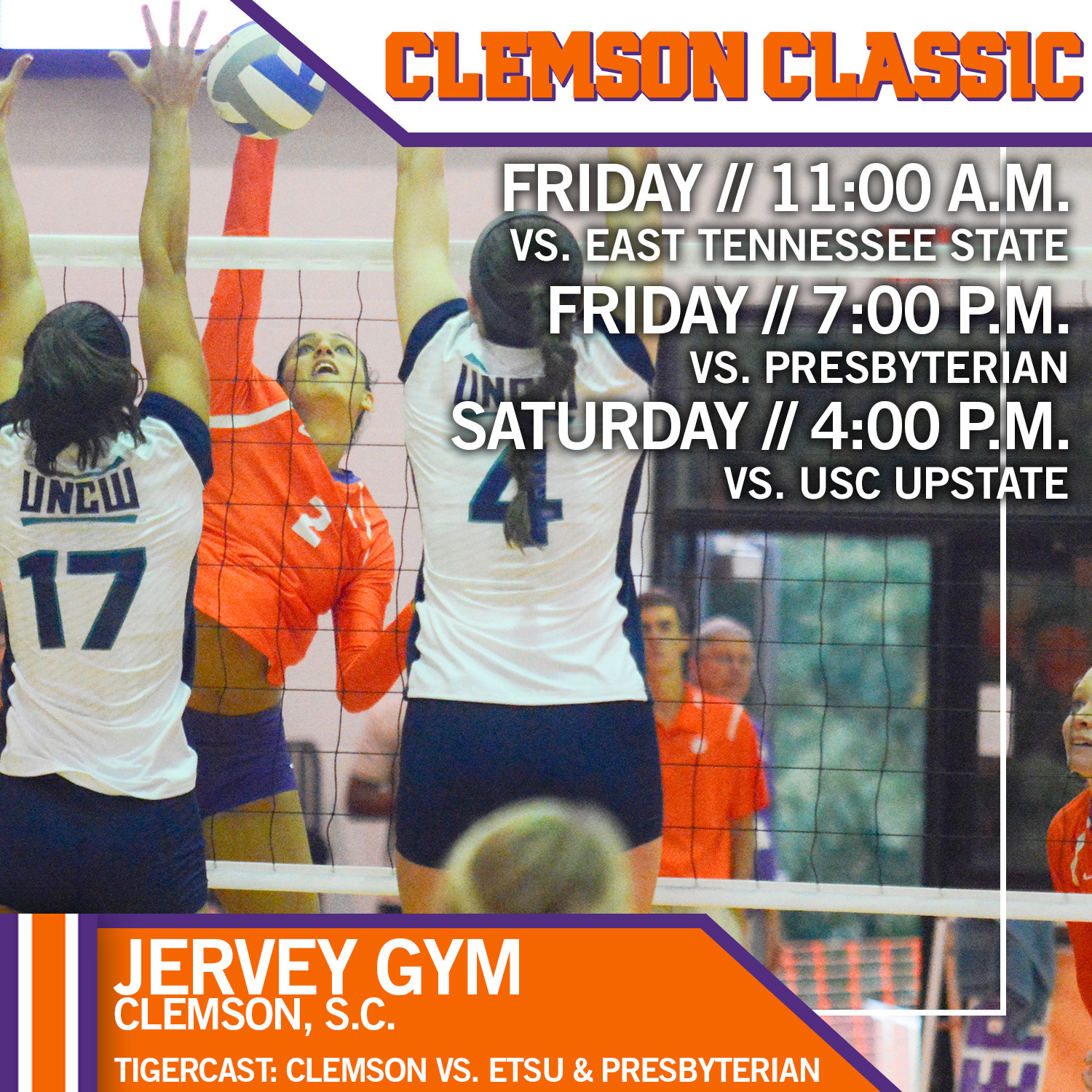 Volleyball To Host Clemson Classic