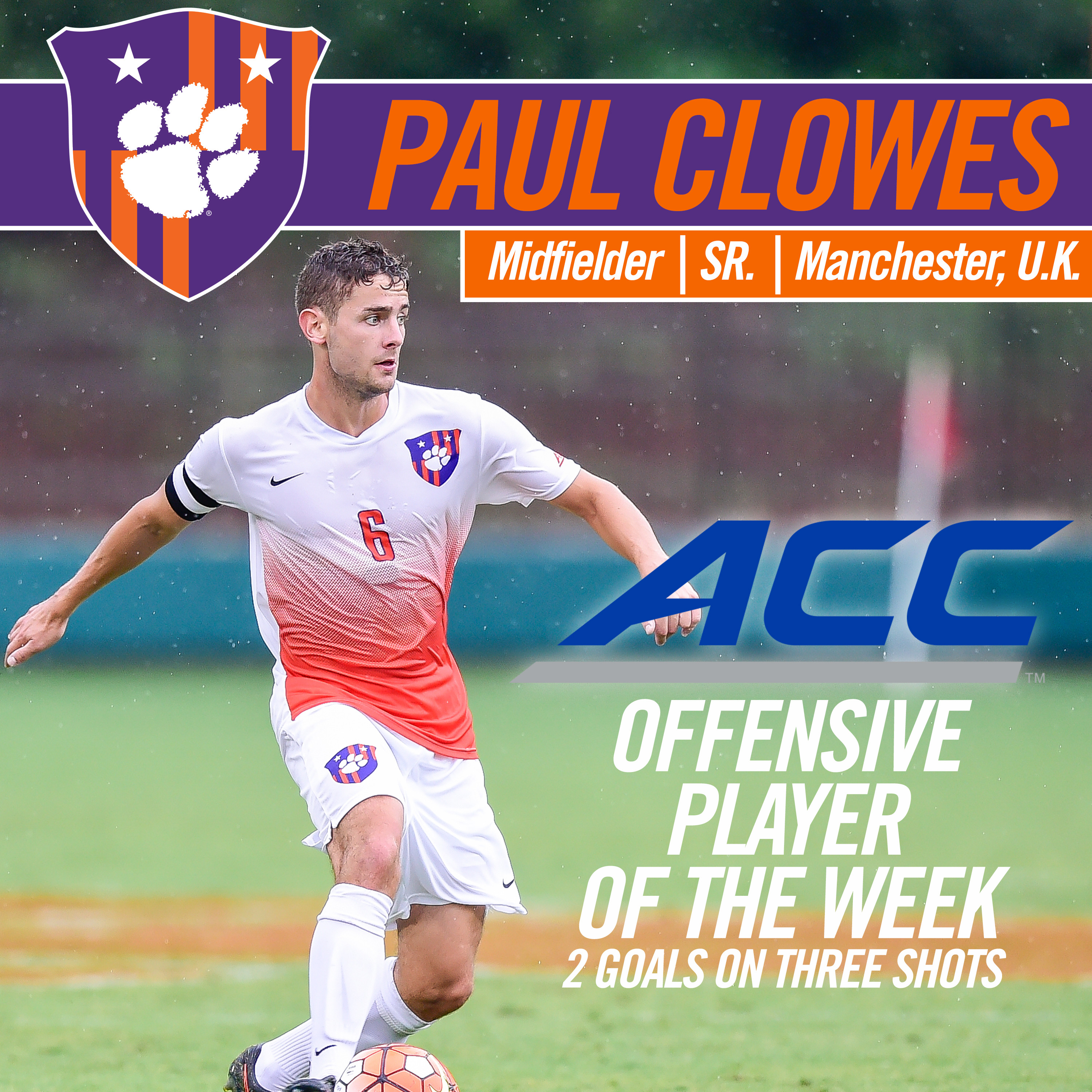 Clowes Named ACC Offensive Player of the Week