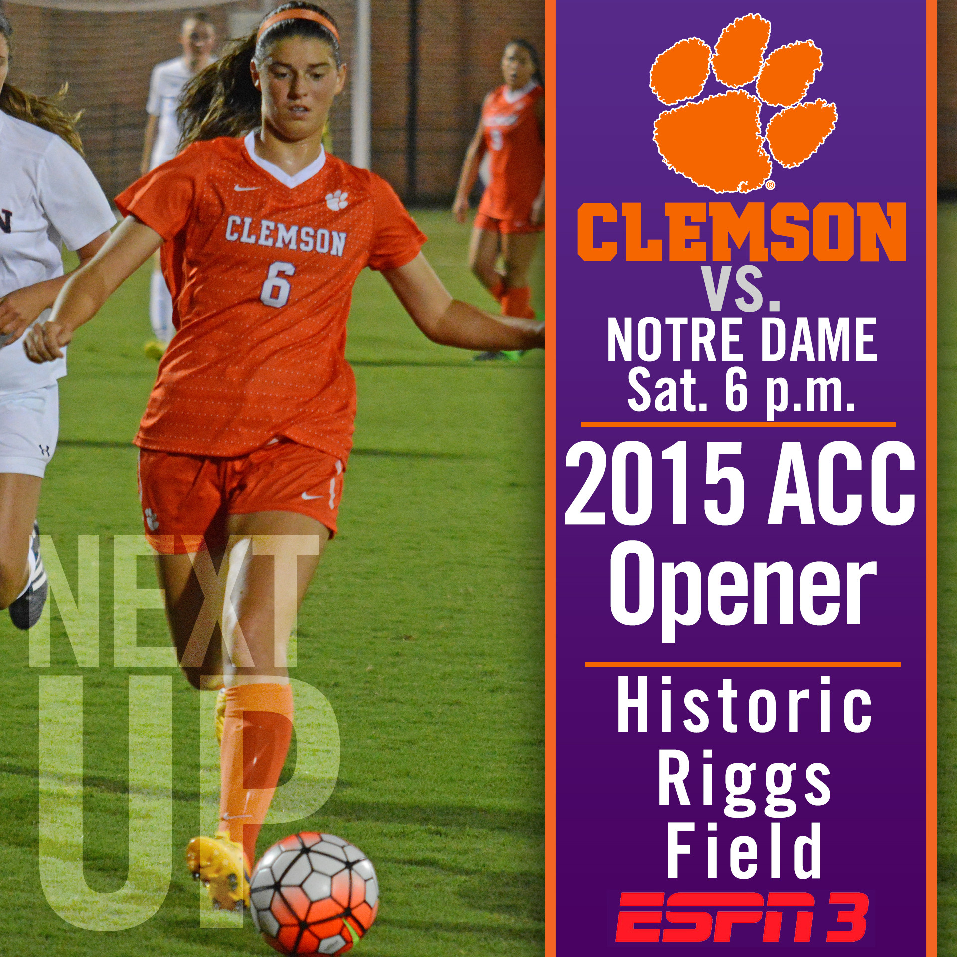 #10 Tigers Host #5 Notre Dame in ACC Opener Saturday