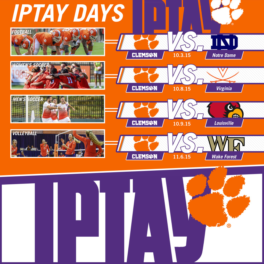 Mark Your Calendars: Fall IPTAY Days Have Been Set