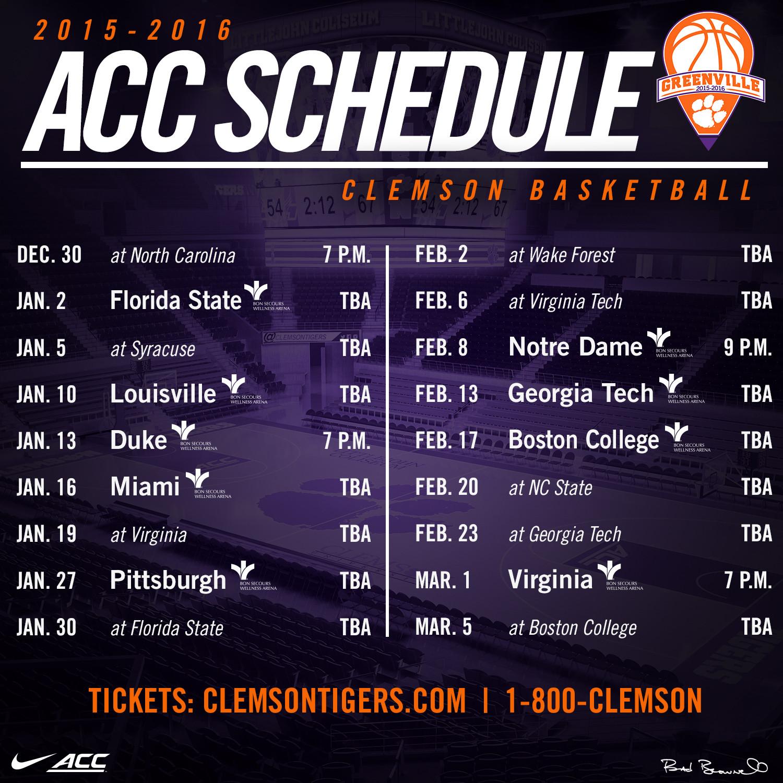 2015-16 Men's Basketball Schedule Announced