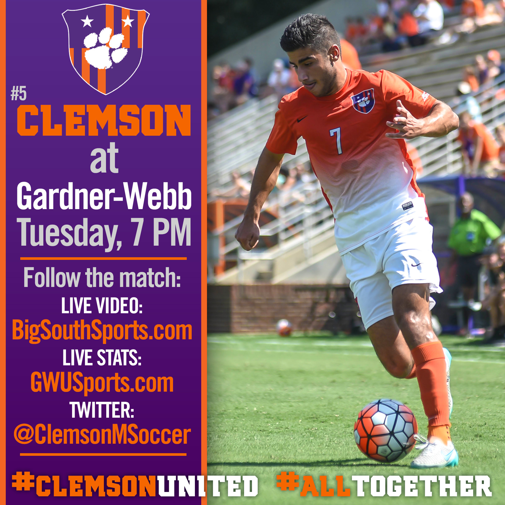 No. 5 Tigers Take on Gardner-Webb on the Road Tuesday