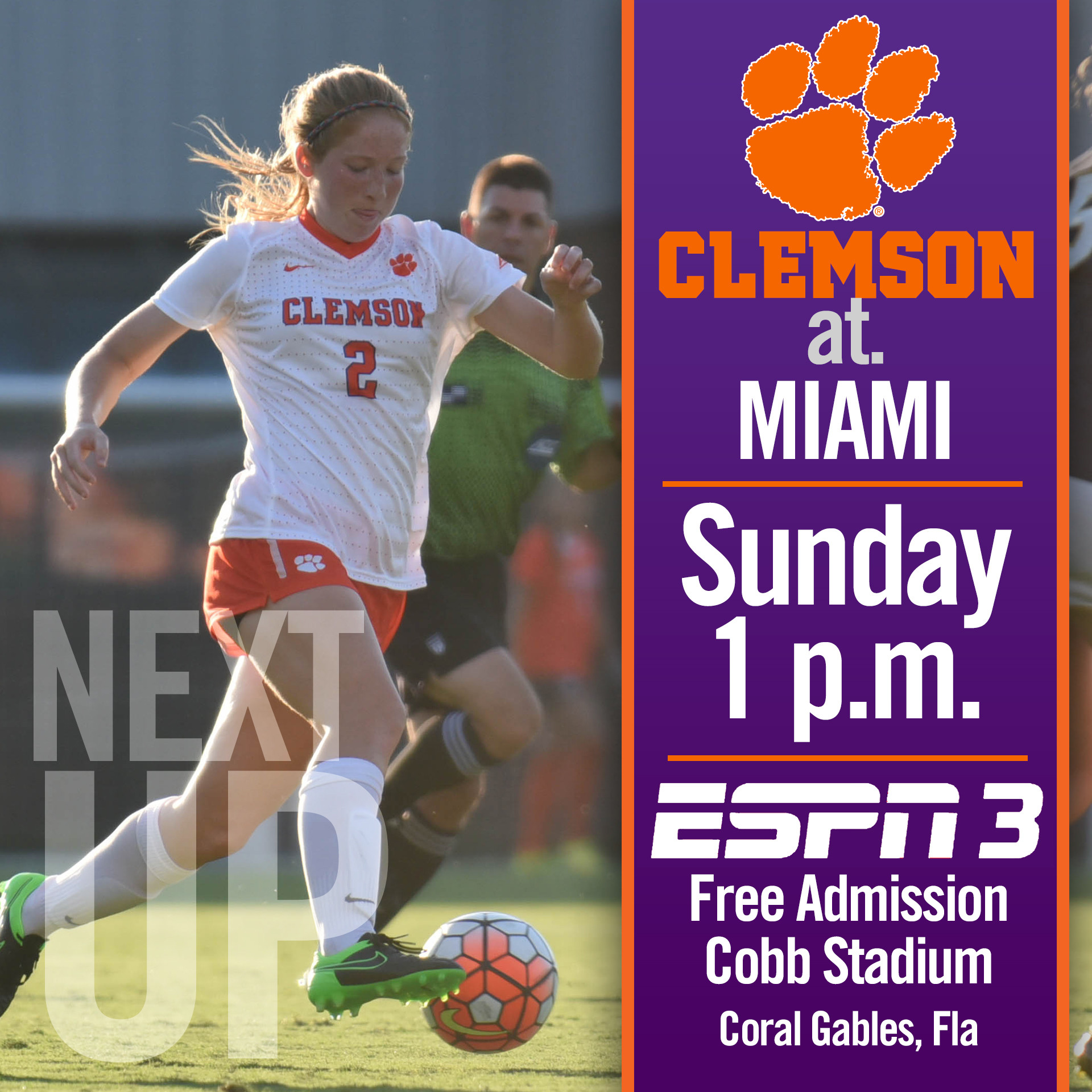 #5 Tigers Play Second Road ACC Match in Four Days at Miami