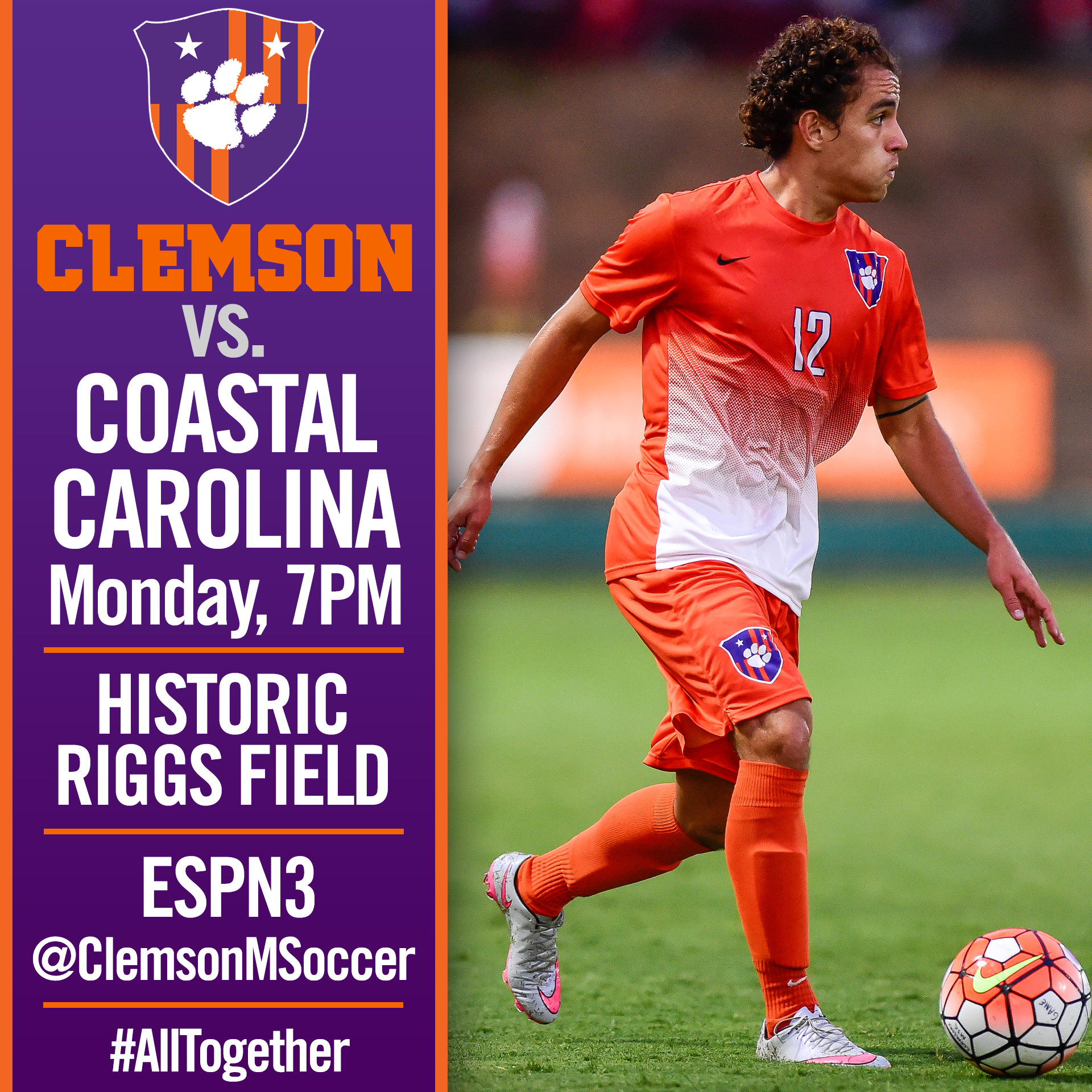 No. 6 Clemson Hosts No. 11 Coastal Carolina Monday