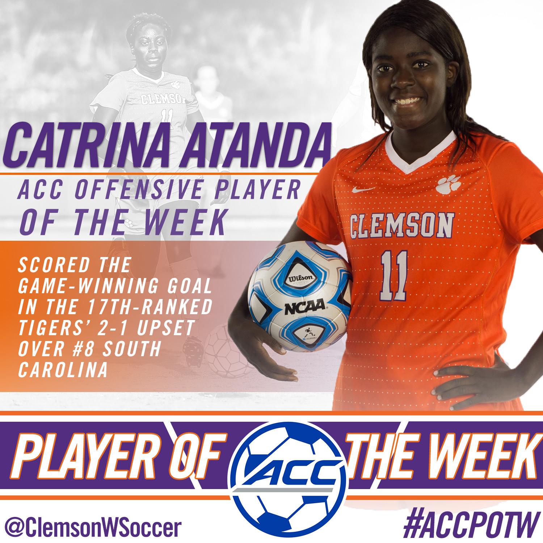 Atanda Named ACC Player of the Week
