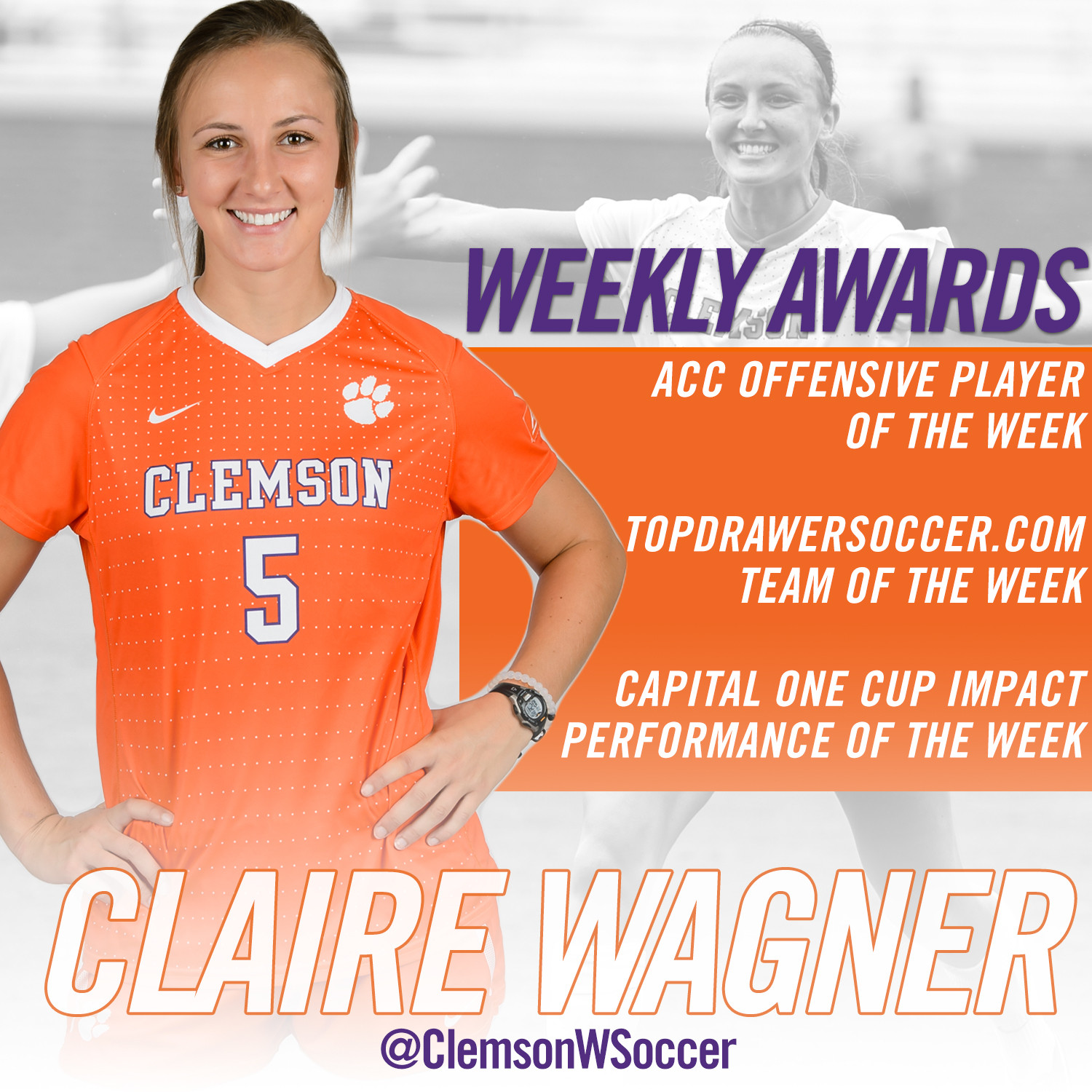 Wagner Receives Multiple Weekly Awards