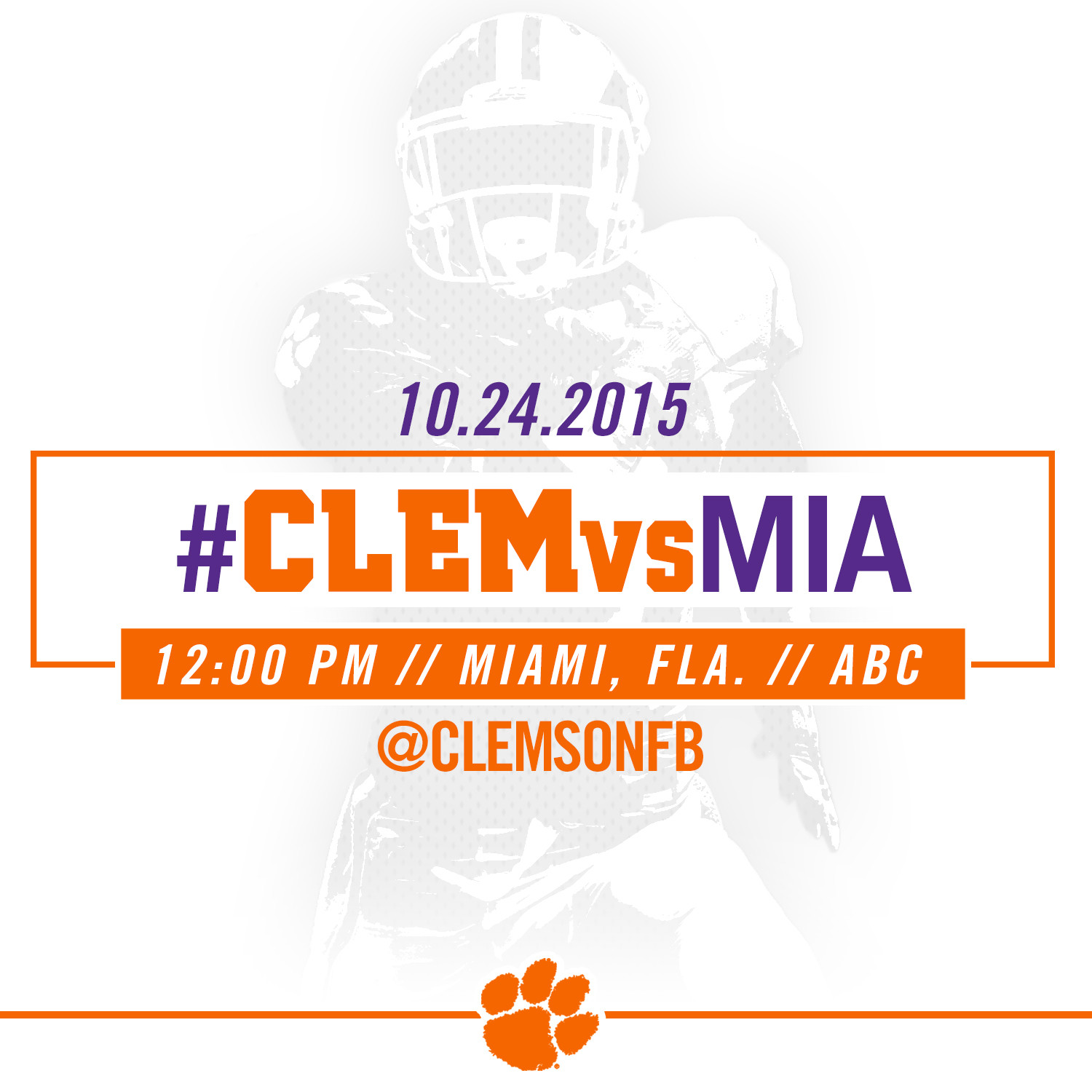 #CLEMvsMIA Gameday Guide