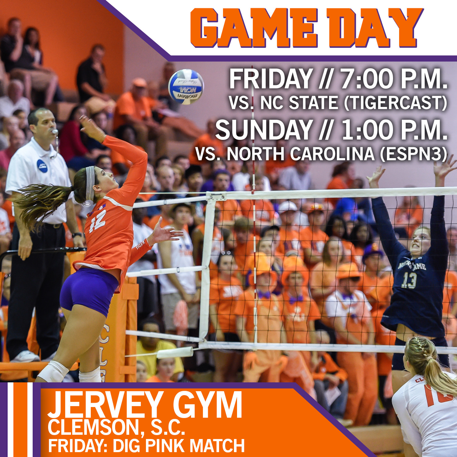 Tigers To Host Wolfpack And Tarheels