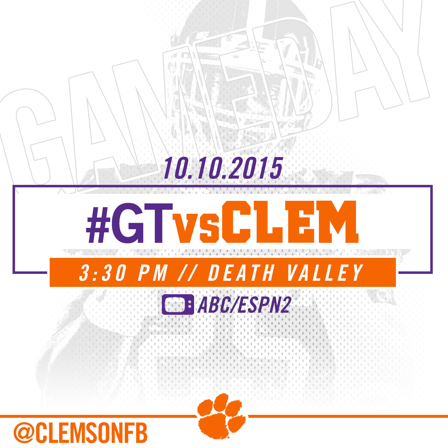 #GTvsCLEM Gameday Guide