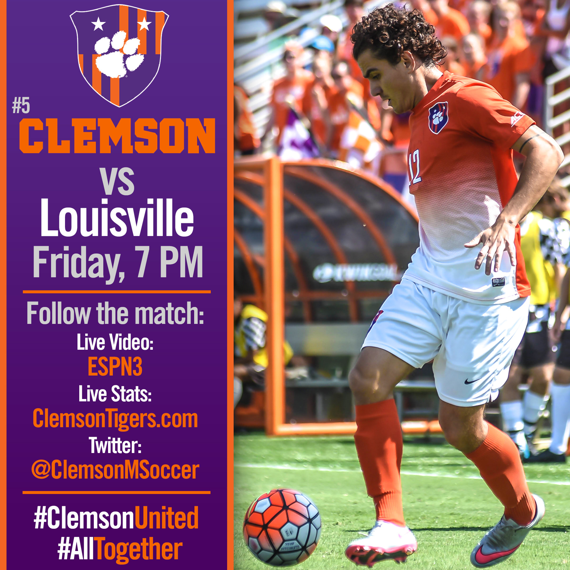 No. 5 Clemson Hosts Louisville in ACC Title Game Rematch