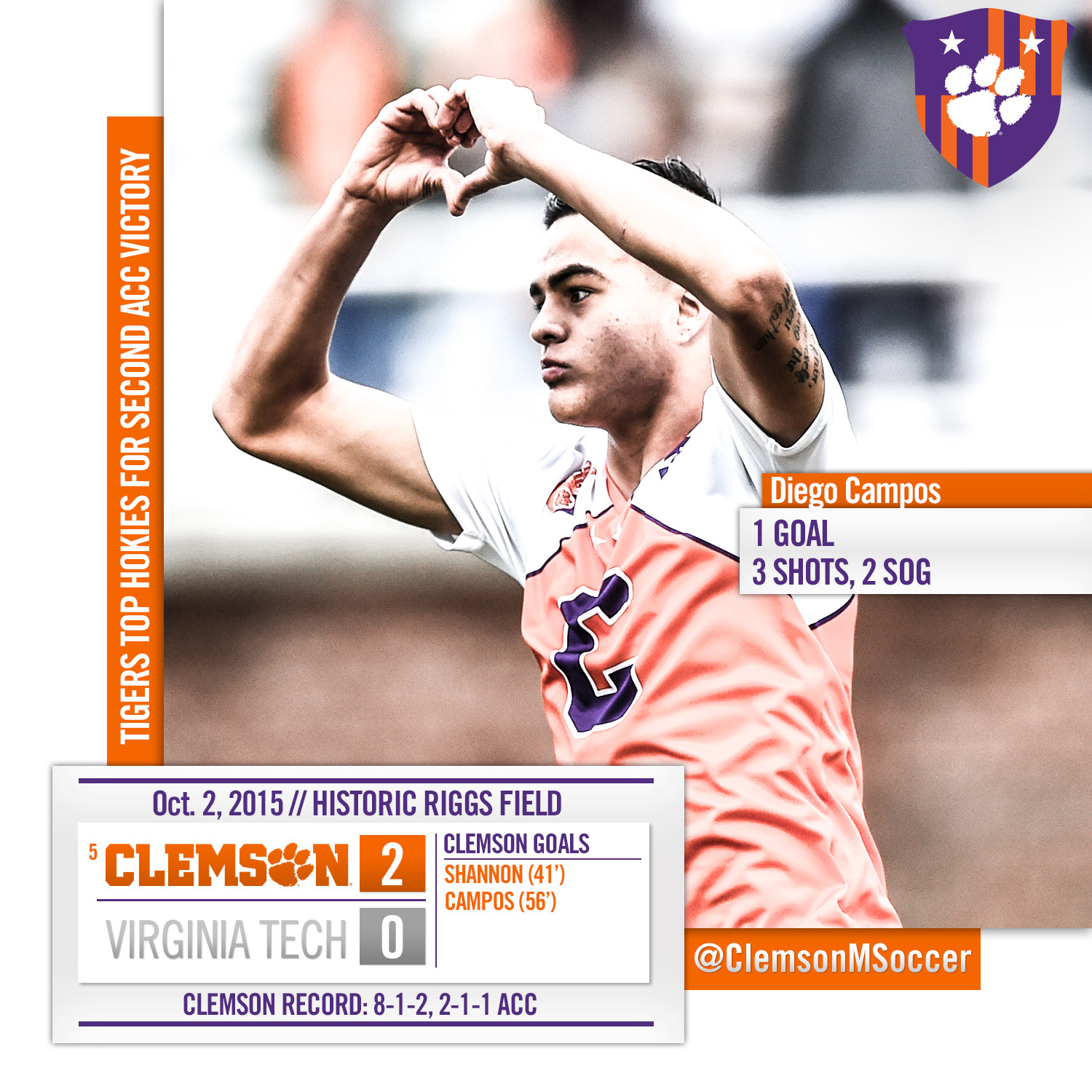 No. 5 Tigers Shut Out Virginia Tech Friday in #Riggs100 Celebration Game