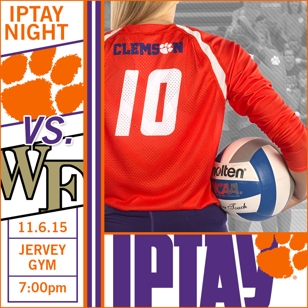 IPTAY Night at Clemson Volleyball Set For This Friday